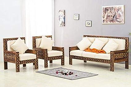 Shilpi Handicrafts Sheesham Wooden Brass Inlay 5 Seater ...