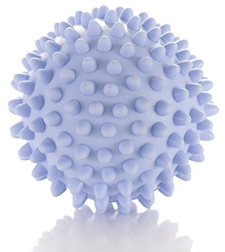 Spiky Massage Ball - Deep Tissue Foot Massager - Lacrosse Balls with Spike to Improve Reflexology and Mobility - Trigger Point Roller for Myofascial Release and Plantar (Soft Foot Massager)