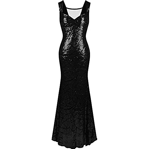Black Sequin Mermaid Dress