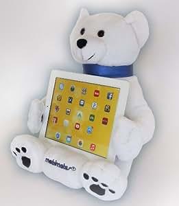 LAP PRO - MOBIMATES: Universal Lap Stand/Toy for ALL Tablets, Ereaders & Books. iPad Air, iPad Retina, iPad, iPad 2, iPad 3, iPad 4, Nook, Galaxy, Nexus, Xoom, Acer. -Adjustable Angle 30-89 Deg.- (Polar Bear)
