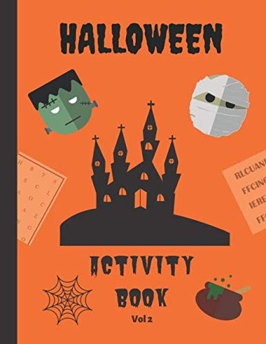 Halloween Themed Word Search (Halloween Activity Book - Vol 2: Hours of brain-boosting entertainment for adults and kids - Halloween themed word search puzzles and word scrambles (Holiday Activity)