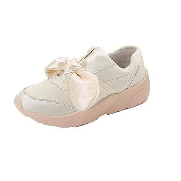 ZHRUI Zapatillas de deporte casuales, Mariposa nudo zapatos planos de dama - Alpargatas de primavera Zapatos de ...