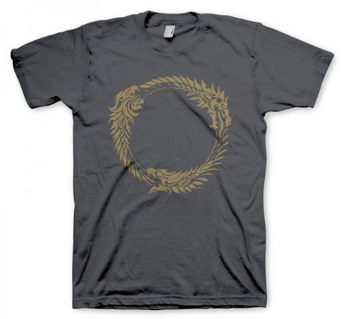 (The Elder Scrolls Ouroboros Symbol XL T-Shirt Grey)