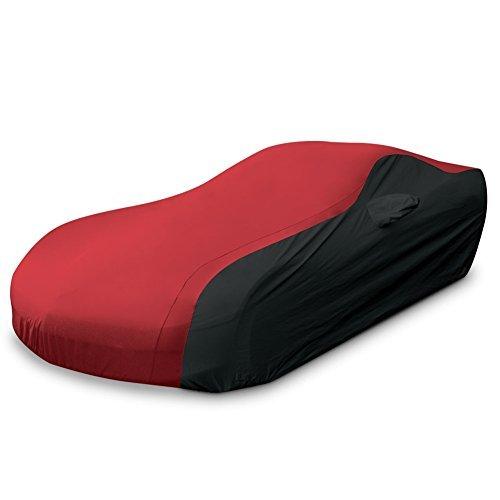 (1997-2004 C5 Corvette Ultraguard Plus Car Cover - Indoor/Outdoor Protection (Red/Black))