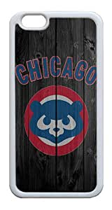 iPhone 6 Cases, iPhone 6 Case - Stylish Design Chicago Cubs Anti-scratch Shockproof TPU White Bumper Case for Apple iPhone 6 4.7 Inch