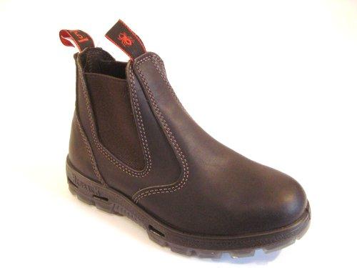 RedbacK Men's Safety Bobcat USBOK Elastic Sided Steel Toe Dark Brown Leather Work Boot (11 AU 3E (12 M US Men)) ()