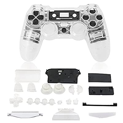 Yueton Replacement Full Housing Controller Shell Case Cover Kit for PlayStation 4 by Blovess