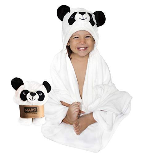 Toalla de baño con capucha para bebe, niña y niño. Hecha con fibras de bambú orgánicas.