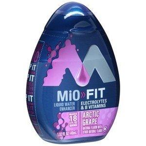 MiO Fit Arctic Grape, 1.62 FLOZ PACK OF 6 BOTTLES by Mio (Kraft Bottle)
