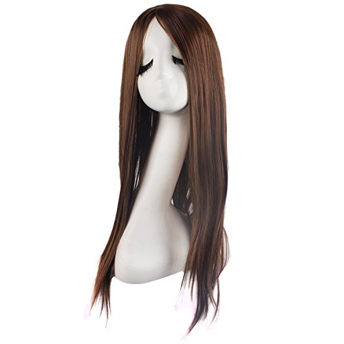 MapofBeauty Special Natural Long Straight Wigs-Brown-Ladies