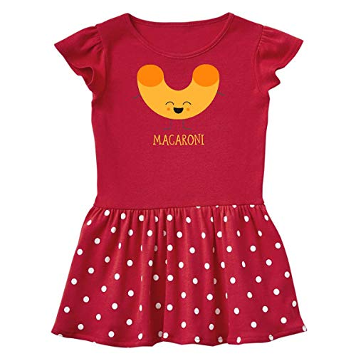 inktastic Macaroni Costume Toddler Dress 5/6 Red with Polka Dots]()