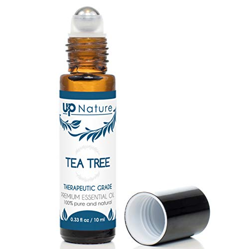 Tea Tree Essential Oil Roll-On - Melaleuca Oil - Anti-Inflammatory, Clear Skin - Easy Application TeaTree Oils Topical Roller - High Quality, Leak-Proof Rollerball - Travel Safe - No Diffuser Needed! (Best Anti Inflammatory Essential Oil)