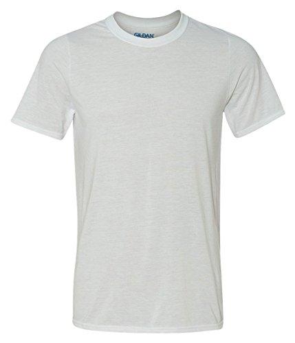 Gildan Classic Fit Mens Medium Adult Performance Short Sleeve T-Shirt, White