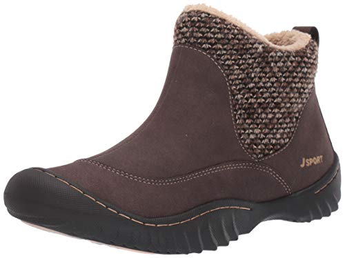 JSport by Jambu Women's Marcy Ankle Boot, Brown, 8.5 M US