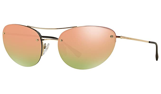 8779abac29 Image Unavailable. Image not available for. Color  Prada Sport 51RS ZVN5L2  Pale Gold 51RS Sunglasses ...