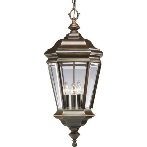 Progress Lighting P5574-108 4-Light Crawford Cast Hanging Lantern, Oil Rubbed Bronze