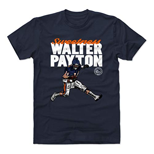 500 LEVEL Walter Payton Cotton Shirt (X-Large, True Navy) - Chicago Bears Men's Apparel - Walter Payton Hurdle WHT 23 Chicago Bears Jersey