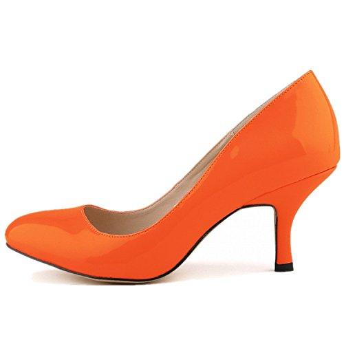 orange dress purple shoes - 2