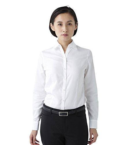 拒否のりくちばし(ニューヨーカー)NEWYORKER 【イージーケア】スキッパーカラー ベーシックシャツ(リクルート対応可能/スナップ付) ホワイト 516269020113