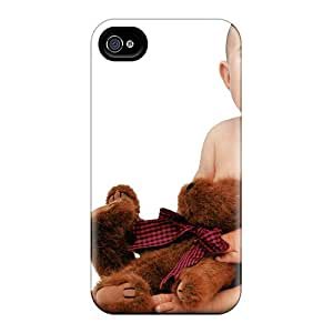Fashion Protective Cute Baby With Teddy Case Cover For Iphone 4/4s