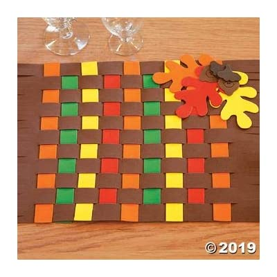 Fall Colors Weaving Placemat Craft Kit - Crafts for Kids and Fun Home Activities: Toys & Games