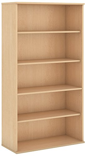 Bush Business Furniture 72H 5 Shelf Bookcase in Natural Maple