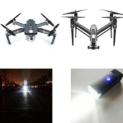 Toogod UAV Light Drone LED Light,DJI MAVIC PRO/DJI Inspire Drone Night Light,Included Battery&USB Charging