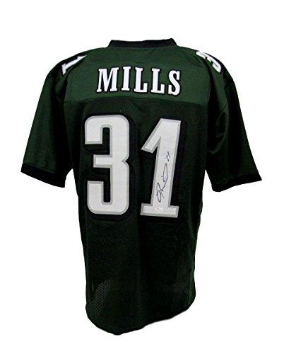 Jalen Mills Custom Eagles Autographed/Signed Jersey Green JSA 131900 (Eagles Signed Jersey Green)