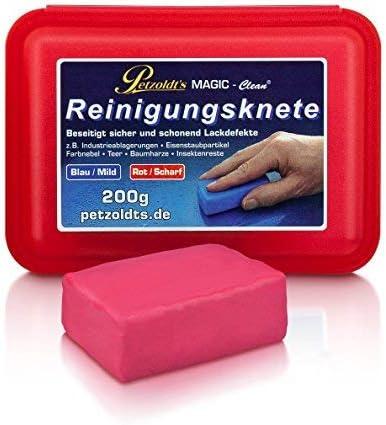Petzoldt S 200 Gramm Rote Profi Reinigungsknete Magic Clean Die Scharfe Lackknete Zur Lackpflege Und Felgenreinigung Auto
