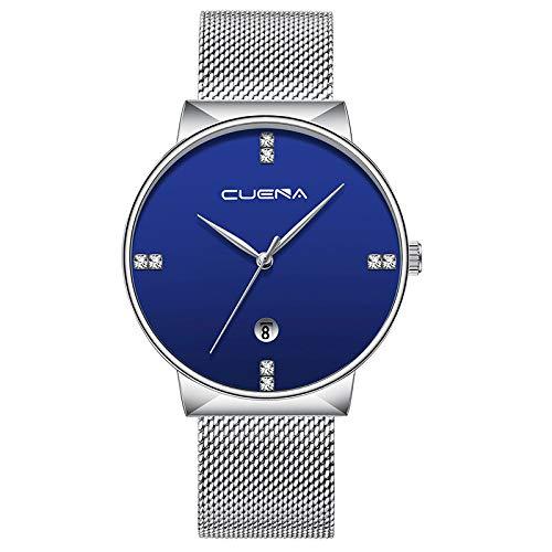 Ultra-Thin Relojes Hombre Clasicos-Aobuang Cuarzo Hombre ...