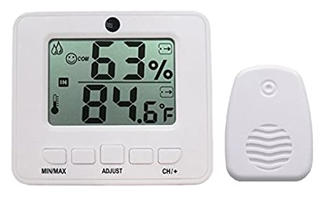 Ambient Weather WS-05 Easy-to-Read Wireless Adjustable Thermo-Hygrometer