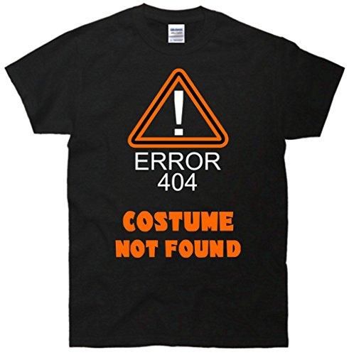 [404 Error Costume Not Found T-Shirt Black Large] (Costume Not Found 404)