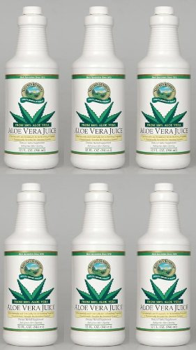 Naturessunshine Aloe Vera Juice Intestinal System Support 32 fl. oz (Pack of 6)