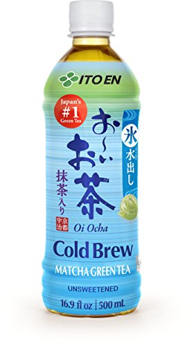 Ito En Oi Ocha Cold Brew Matcha Green Tea Unsweetened 16.9 Ounce 12 Count Unsweetened Zero Calories with Antioxidants Excellent Source of Vitamin C Product of Japan