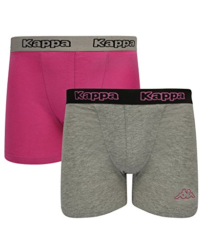 Kappa - Herren Boxershorts 2-Pack - grau/rosa violett, XX-Large