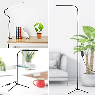 LED Floor Lamp, 3-in-1 Dimmable Standing Lamp Desk Lamp with C-Clamp and Tripod Base Eye-Care Energy Saving Reading Lamp with Flexible Gooseneck for Bedrooms Living Rooms Study -  - living-room-decor, living-room, floor-lamps - 41qBE8%2BvizL. SS400  -