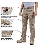 LABEYZON Men's Outdoor Work Military Tactical Pants Rip-Stop Cargo Pants Men