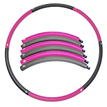 Detachable 2 Pounds Weighted Hula Hoop – Weight Loss Workout Equipment –Foldable Dancing & Twist & Stretch & Sweat - Dragon Flame
