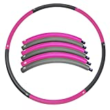 Hula Hoop Detachable 1.5lb (Dia 35.4inches) – 6 Segmented Weighted Hoop – Easy Weight Loss Workout Equipment – Dance & Twist & Stretch & Sweat – Lovin
