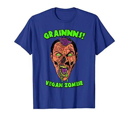 Vegan Zombie T-Shirt - Funny Living Dead Halloween Shirt ()