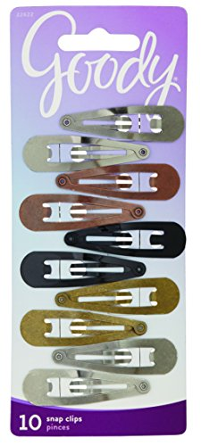 Goody Classics Contour Hair Clip 10, 0.343 Ounce, Colors May Vary (Pack of 3)