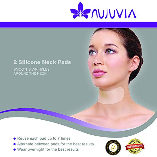2 Silicone Neck Pads - Neck Tape for Wrinkles - Diminish the Appearance of Turkey Neck and Crepey Skin Overnight