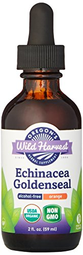 Oregon's Wild Harvest Echinacea Goldenseal Orange Organic Extract, 2 Fluid Ounce