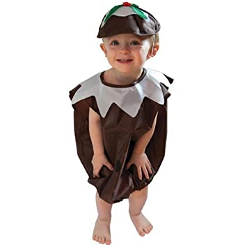 Christmas Pudding Outfit.Adorable Christmas Pudding Fancy Dress Party Outfit 2 3