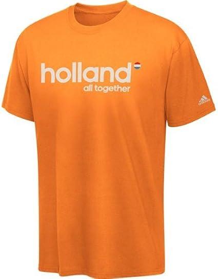 adidas Países Bajos Holanda UEFA Euro 2012 Fútbol Adulto Camiseta, Anaranjado: Amazon.es: Deportes y aire libre