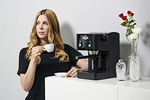 Gaggia GranGaggia Style Black Macchina Manuale per il Caffè Espresso, per Macinato e Cialde, 15 bar, Colore Nero, RI8423… 5