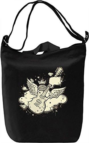 Winged guitar Borsa Giornaliera Canvas Canvas Day Bag| 100% Premium Cotton Canvas| DTG Printing|