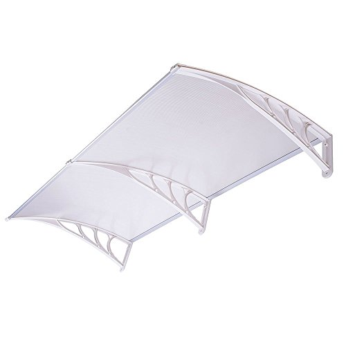 6 5 Ft Awning Canopy Window Door Clear Hollow Polycarbonate White Mounting Ha