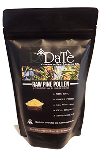RyDatè Raw Organic Chinese Pine Pollen Extract Powder 5.29oz / 150g (60 servings) || 99% Broken Cell Wall || ADD YOUR INCLUDED POLLEN TEA BELOW!