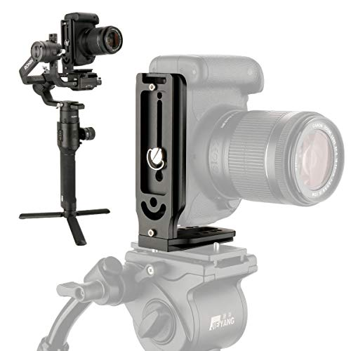 YILIWIT Aluminum Camera L-Bracket Vertical Shooting Universal Quick Release L Plate with 1/4